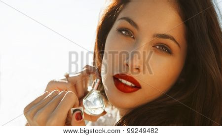 beautiful woman with fragrance