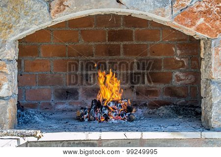 Open Fire Place Oven
