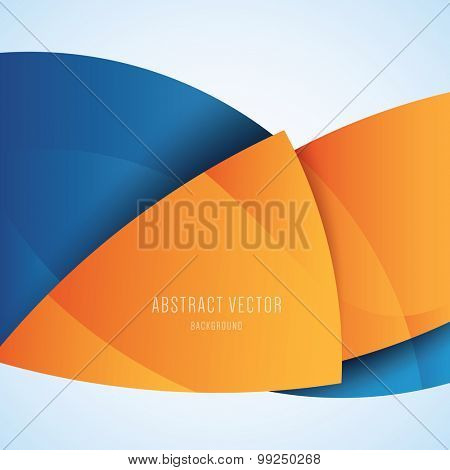 Abstract orange and blue modern vector background