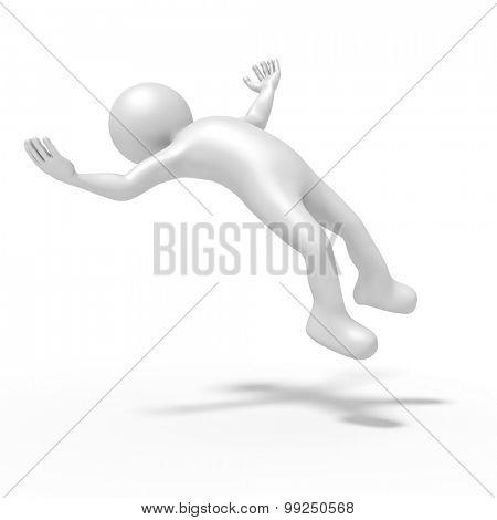 An image of a levitating winning man