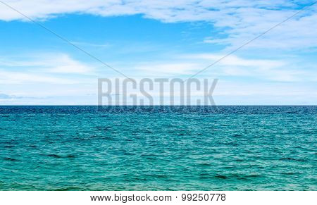 Seascape with sky and water of Mediterranean sea
