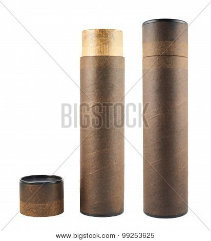 Paper tube isolated