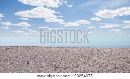 Wave and sand beach background