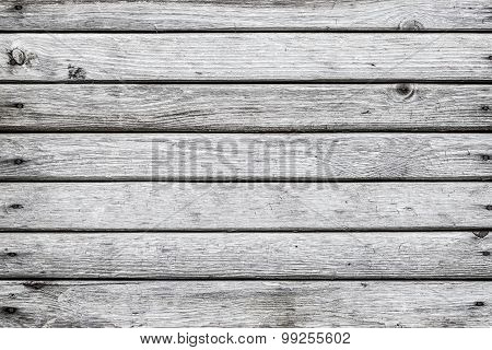 Vintage  White  Wood Wall