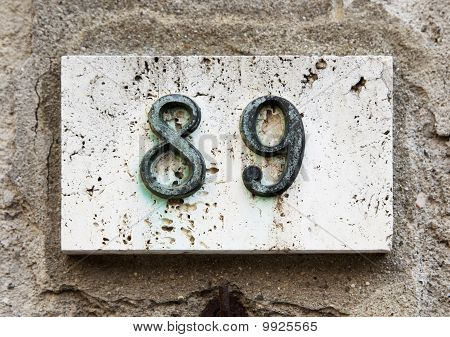 Block Number On A Wall
