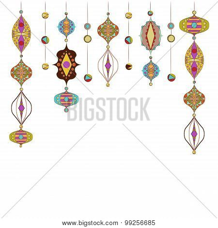 Illustration Of Arabic Lamps