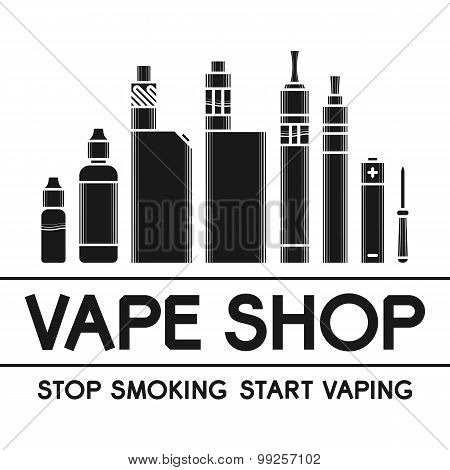 Vector Illustration Of Vape