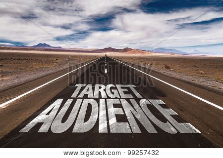 Target Audience written on desert road
