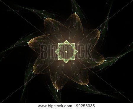 Elementary Particles series. Interplay of abstract fractal forms