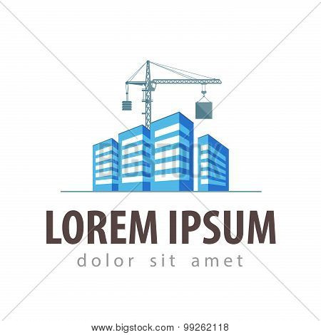 city, town vector logo design template. construction, building or house icon