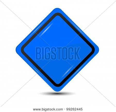 Blank Blue Sign isolated on white background