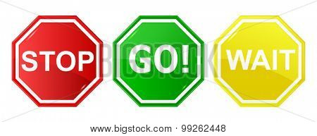 Go, wait, and stop control / traffic signs, signals