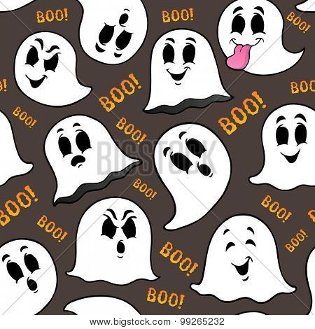 Seamless background with ghosts 2 - eps10 vector illustration.