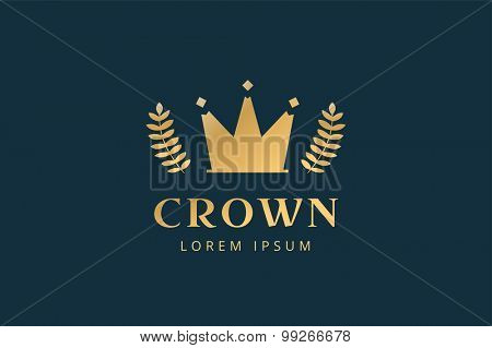 Crown abstract logo vector template. Hotel logo. Kings symbol. Power shape icon. Business leaders, boss, premium quality. Queen crown. Crown logo. Crown icon. Premium product