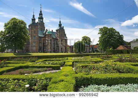 Rosenborg Castle And Park In Central Copenhagen, Denmark