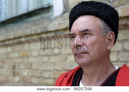 Portrait Of A Thinking Kuban Cossack