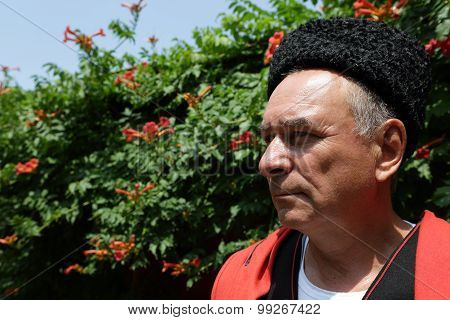 Portrait Of A Serious Kuban Cossack