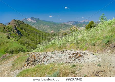 Spring landscape in Kara-dag natural reserve Eastern Crimea