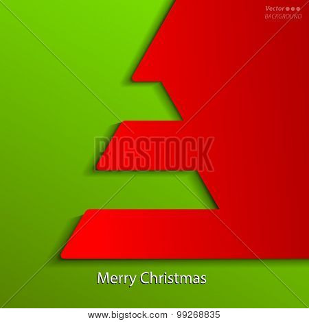 Creative Christmas tree. Vector Illustration.