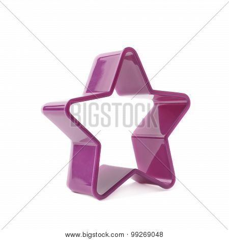Violet star shaped baking mold form