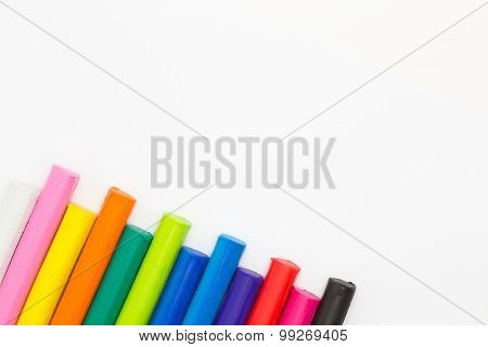 Multiple colors clay sticks