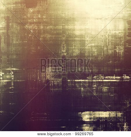 Grunge retro vintage textured background. With different color patterns: yellow (beige); brown; purple (violet); gray