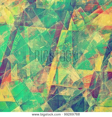 Colorful designed grunge background. With different color patterns: yellow (beige); purple (violet); green; blue