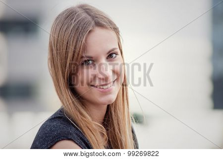 Attractive teenage girl
