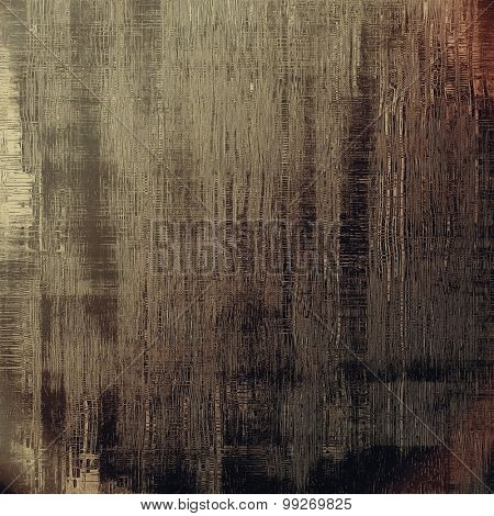 Old texture as abstract grunge background. With different color patterns: yellow (beige); brown; gray; black