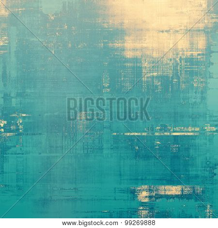 Grunge texture, may be used as retro-style background. With different color patterns: yellow (beige); blue; cyan