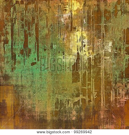 Colorful designed grunge background. With different color patterns: yellow (beige); brown; gray; green