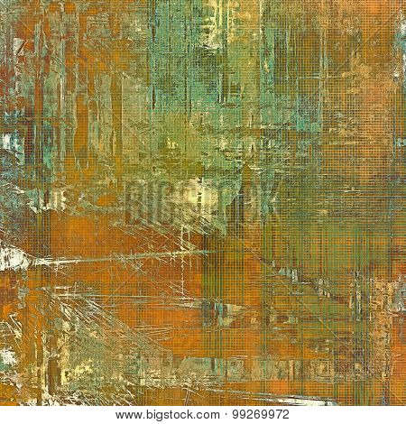 Aging grunge texture, old illustration. With different color patterns: yellow (beige); brown; green; cyan