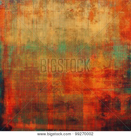 Vintage texture with space for text or image. With different color patterns: yellow (beige); brown; red (orange); green