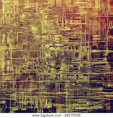 Vintage old texture for background. With different color patterns: yellow (beige); brown; purple (violet); pink