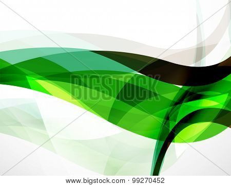 Wave background, geometric color composition. Abstract background with copyspace. Vector illustration