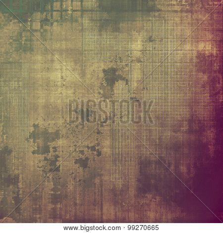 Vintage spotted textured background. With different color patterns: brown; purple (violet); gray; green