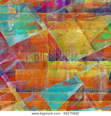 Antique vintage background. With different color patterns: yellow (beige); red (orange); purple (violet); green; blue