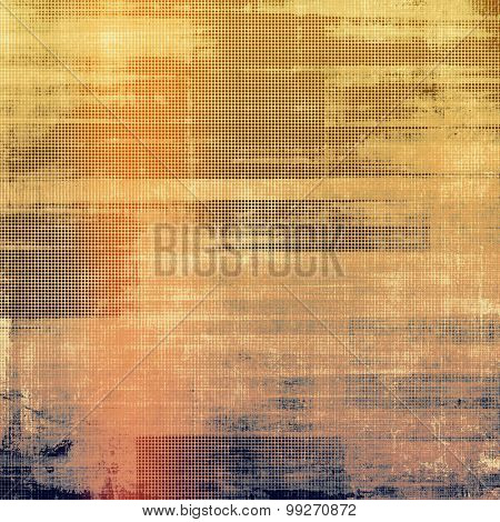 Grunge retro vintage textured background. With different color patterns: yellow (beige); brown; red (orange); purple (violet)