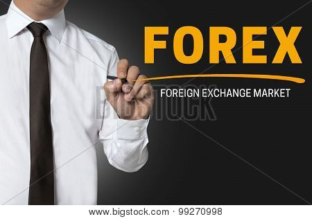 Forex Is Written By Businessman Background