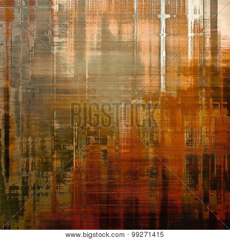 Vintage old texture for background. With different color patterns: yellow (beige); brown; red (orange); gray