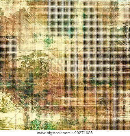 Abstract grunge background. With different color patterns: yellow (beige); brown; gray; green