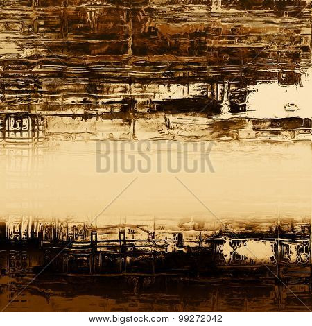 Vintage old texture for background. With different color patterns: yellow (beige); brown; black