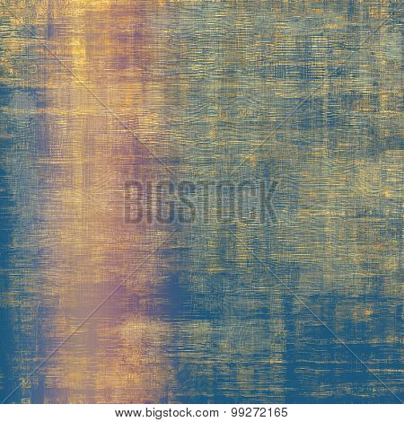 Grunge texture with decorative elements and different color patterns: yellow (beige); brown; blue; pink