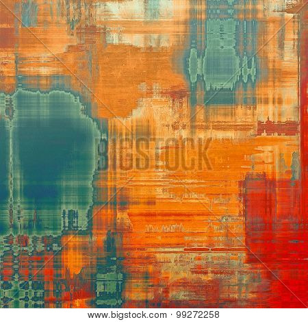 Colorful designed grunge background. With different color patterns: yellow (beige); brown; red (orange); blue