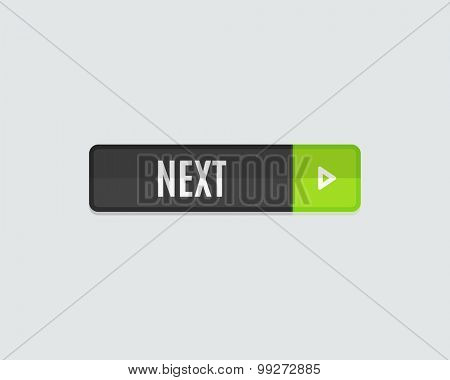 Next web button. Modern flat design website icon and design element