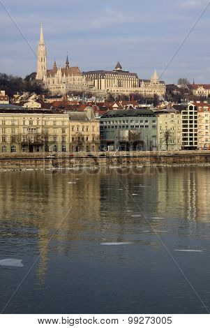 View Of Buda Bank Of Budapest, Hungary