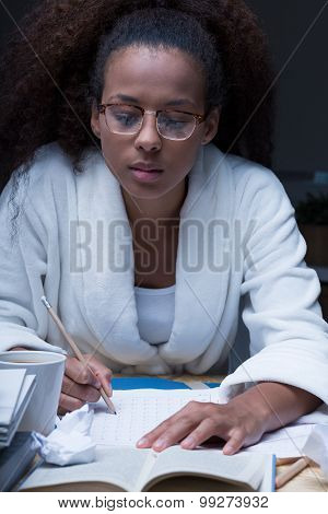 Doing Homework At Night