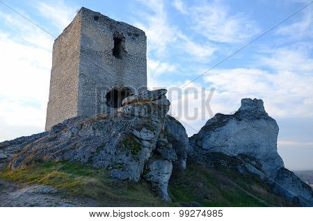 Castle ruins (Olsztyn in Poland)