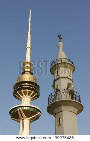 Minaret And Telecommunications Tower