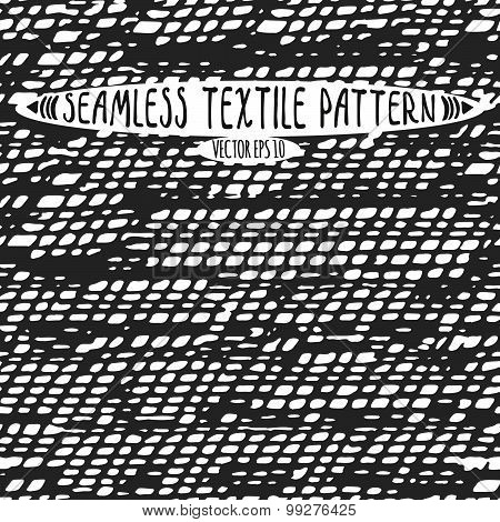 Seamless Vector Ink Drawn Textile Pattern